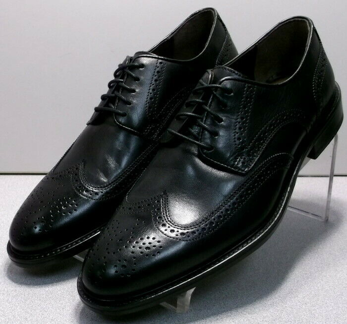 152825 MS50 Men's Shoes Size 9 M Black Leather Lace Up Johnston & Murphy