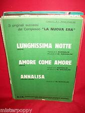 LA NUOVA ERA Lunghissima notte + Amore come amore + Annalisa 1987 Spartiti PROG