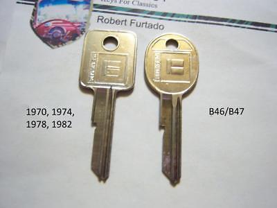 Key Blanks for Chevorlet Pontiac Oldsmobile Buick Cadillac 1970,1974,1978,1982