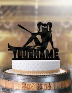 Pleasing Personalized Harley Quinn Cool Birthday Cake Topper Funny Birthday Cards Online Fluifree Goldxyz