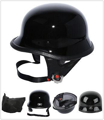 DOT Motorcycle Motorbike German Half Face Helmet For Harley Chopper Cruiser M~XL