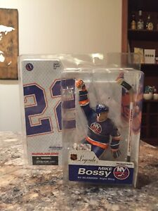 Mcfarlane-NHL-Legends-Series-2-Mike-Bossy-Variant-Blue-Jersey-New-In-Package