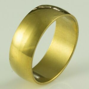 8mm-Stainless-Steel-Mens-amp-Womens-Wedding-Band-New-Gold-Ring-Sizes-J-to-Z-2