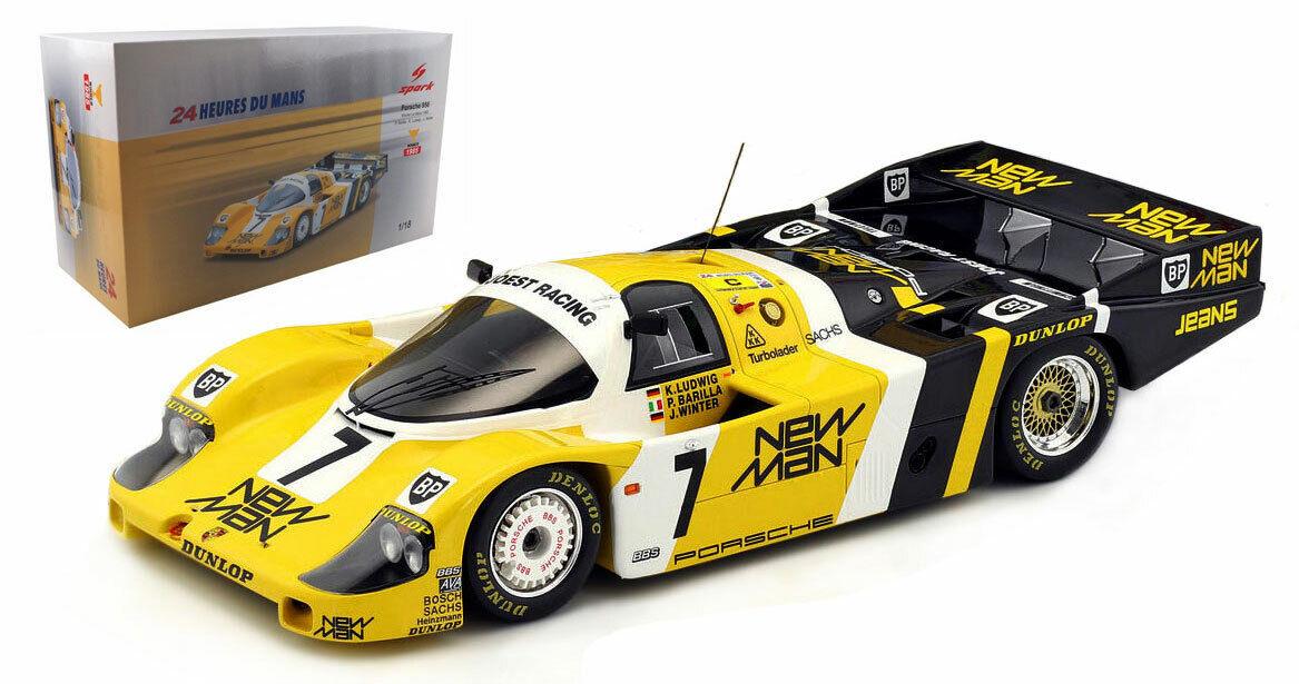 SPARK 18LM85 PORSCHE 956  7  NEW MAN  Le Mans Winner 1985-échelle 1 18
