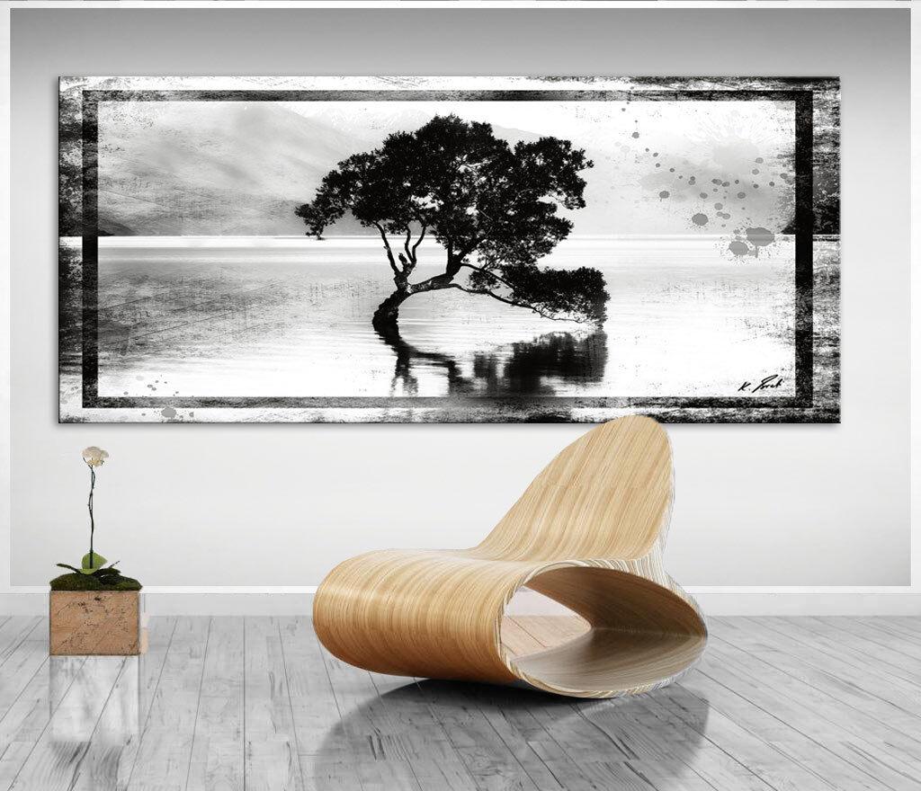 Wandbilder Abstrakt Baum Landschaft Bilder Leinwand Kunst Bild Kunstdruck D1149