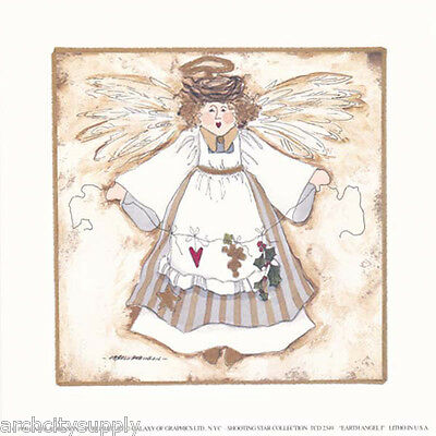 """COUNTRY ANGEL by COLLEEN SGROI    #TCL6112     RAA32 D 8/"""" X 10/"""" ART PRINT"""