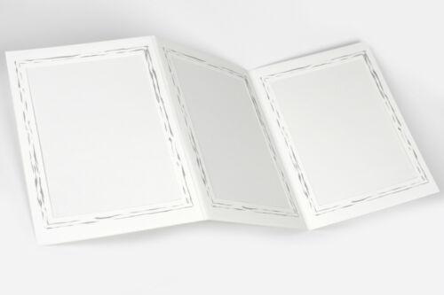 Leporello bildmaß 13 x 18 cm con filigranem plata margen Portrait foto blanca 5 unid braguitas