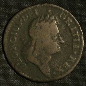 1723 Hibernia 1/2 Penny Halfpenny Coin - Free Shipping USA