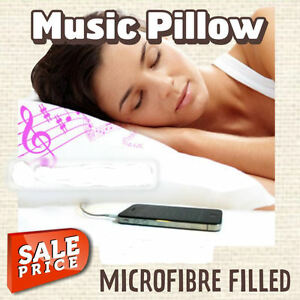 Music pillows with speaker imusic get sound asleep for Music speaker pillow
