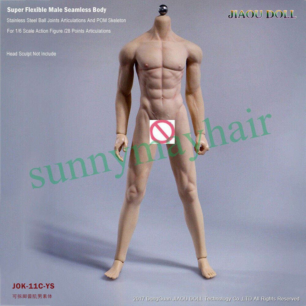 JIAOU DOLL 3.0 Male 1 6 Seamless Muscular Tan Body Figure With Dismantle Foot