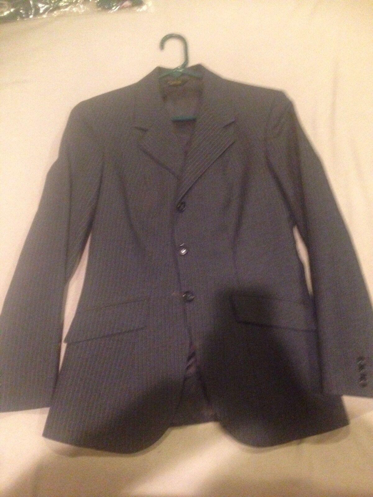 Ladies size 12 Tailored Sportsmen Navy bluee pin stripes huntcoat
