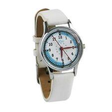 Nurse-Medical White Leather Small Quadrant Watch - FREE SHIP!