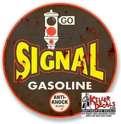 "24/""x16/"" Rusty CLEAN RESTROOM DECAL sticker GAS STATION SIGN GASOLINE PUMP"