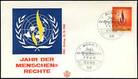 West Germany 1968 Human Rights Year FDC First Day Cover #C29199