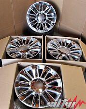 24 Platinum Style Silver Chrome Insert Wheels For Cadillac Escalade Rims Set 4