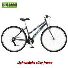 Schwinn Hybrid Bike Gray 700C Women's Cruiser Alloy Frame Sport Road Bicycle New