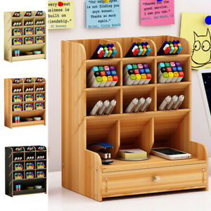 Pen-Holder-Box-Home-Office-School-Desk-Organizer-Stationary-Storage-Rack