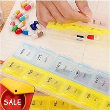 Pillenbox mit separatem Fach für 14 Tagen Hygiene Halter Medikamentendispenser