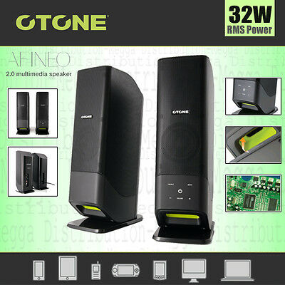 OTONE Afineo 2.0 Multimedia *32W* DEEP BASS Speaker System **PART FAULTY**