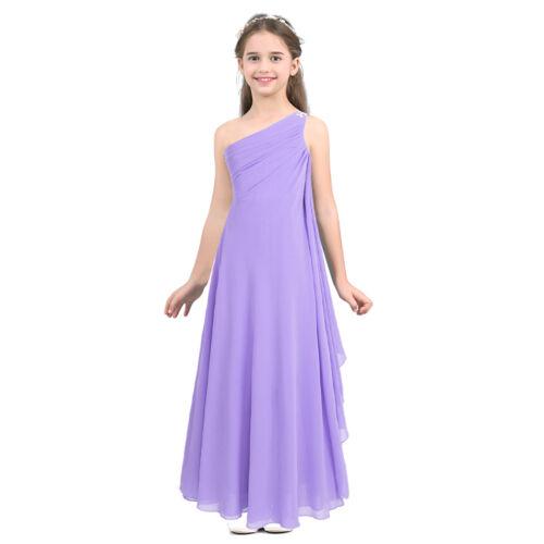 Pageant Flower Girl Dress Kids Birthday Party Wedding Bridesmaid Formal Dresses