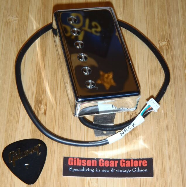 ~ Gibson Burstbucker Pro QUICK CONNECT Humbucker PICKUP Chrome Neck Les Paul