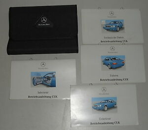 Bordmappe-mit-Betriebsanleitung-Mercedes-Benz-CLK-200-230-320-Coupe-W208