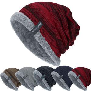 Winter-Warm-Unisex-Women-Men-Slouch-Baggy-Hat-Beanie-Ski-Knitted-Thick-Cap-Bu