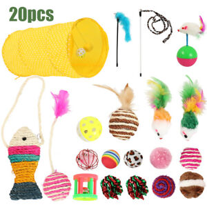 Bulk-Cats-Toys-Kitten-Rod-Mouse-Feathers-Bells-Balls-Fur-Scratch-Rat-Play-Tunnel