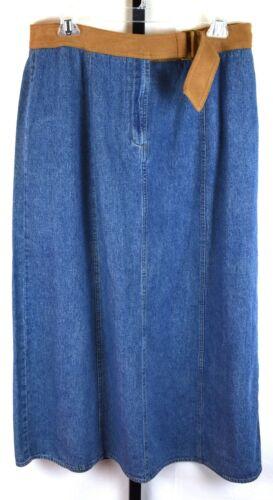 Emma James Long Midi Vintage Denim Jean Skirt Size