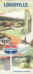Details about 1962 AMERICAN OIL Road Map LOUISVILLE Kentucky Churchill  Downs Jefferson County
