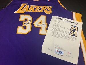 ee3273153 Shaq Shaquille O Neal Signed Game Used Los Angeles Lakers Basketball ...