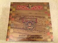Monopoly Nascar 50th Anniversary Limited Collector's Edition Board Game 1998
