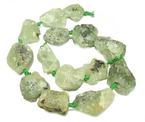 """5 Prehnit de la /""""vie pierre/"""" intactes Nuggets ~ 20-30 mm perles strang preh"""
