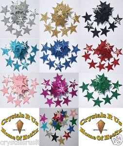 FABRIC-GLITTER-25mm-STAR-IRON-ON-CRAFT-embellishment-TSHIRT-TRANSFER-PATCH