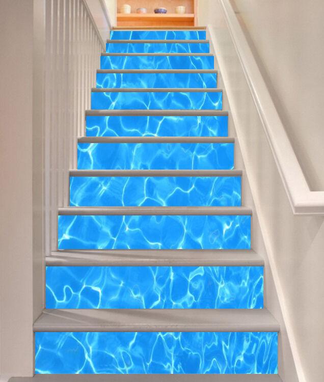 3D Genial See 745 Stair Risers Dekoration Fototapete Vinyl Aufkleber Tapete DE