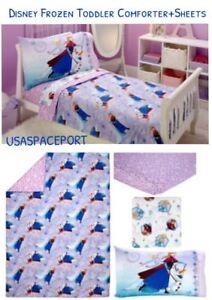 4pc Disney Princess Frozen Annaelsa Toddler Comforter Sheets Set
