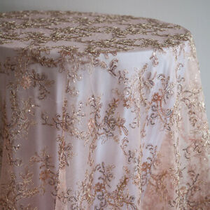 Sequin Embroidered Table Overlays Christmas Tablecloth Wedding Event Home Decor Ebay