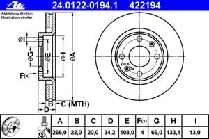 Disco-Freno-2-Pezzo-ATE-24-0122-0194-1