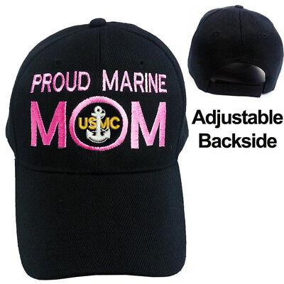 MARINE MOM Army Camo Military Style Adjustable Hat Cap