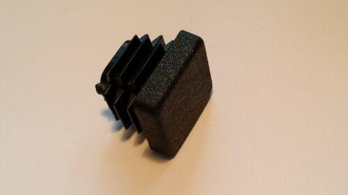 schwarz Päckchen zu 6 Stück Endkappe für Vierkantrohr 20x20