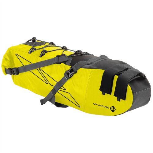giallo 11 litri M-Wave viaggio borsa sottosella bikpacking nero