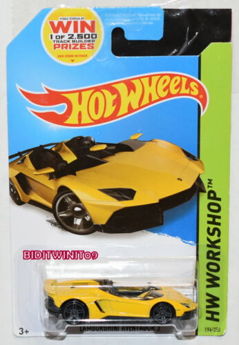 Hot Wheels 2014 Hw Workshop Lamborghini Aventador J Gelb