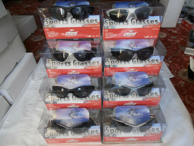 Interchangeable Lenses SXUC Sports Sunglasses BLACK With Free Protective Case