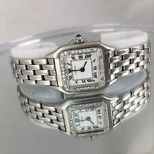 Cartier Ladies Panthere Steel Diamond Watch Cartier Panther Watch Cartier watch