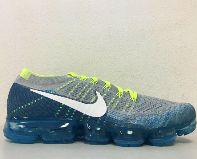 6b64fb758cf60 Nike Air Vapormax Flyknit Sprite Grey White Chlorine Blue 849558-022 Size  10.5