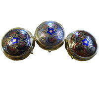 NEW Brass Enamel Pill Box Macintosh Style Collectables 3 Colour Choices