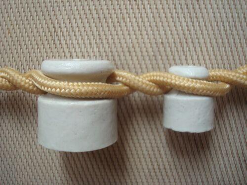 Ceramic Insulator Retro Keramisch Isolator Porzellan Keramik für Litze 160St