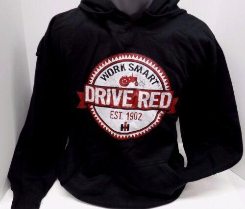 Case IH Work Smart Drive Red Men/'s Black Hoodie