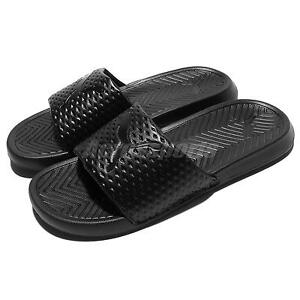 Image is loading Puma-Popcat-Premium-Black-Men-Sandal-Slides-Slippers-