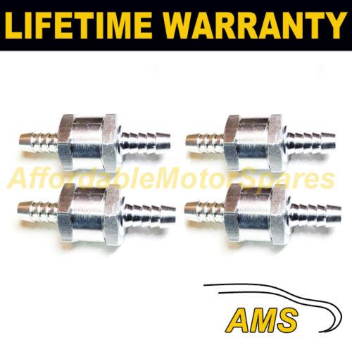 """4 x 6 mm 1//4/"""" One Way aluminium non retour Clapet anti-retour Essence Diesel Huile Eau"""